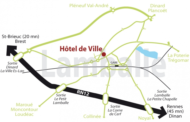 Plan accès Lamballe-Armor