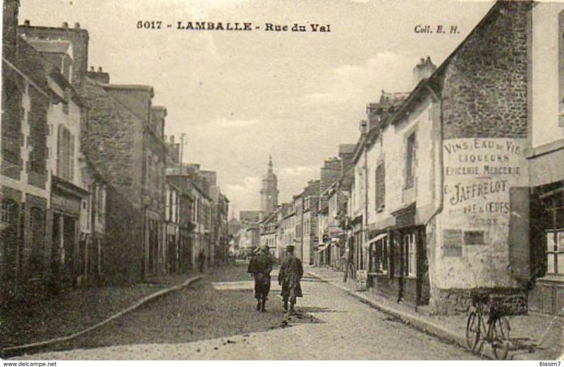 La rue du Val en 1915
