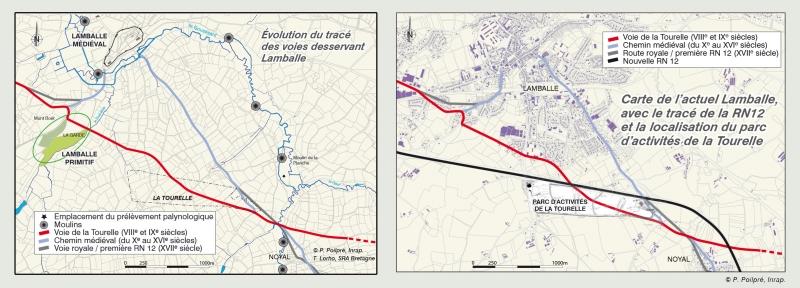 Evolution voie d'accés à Lamballe