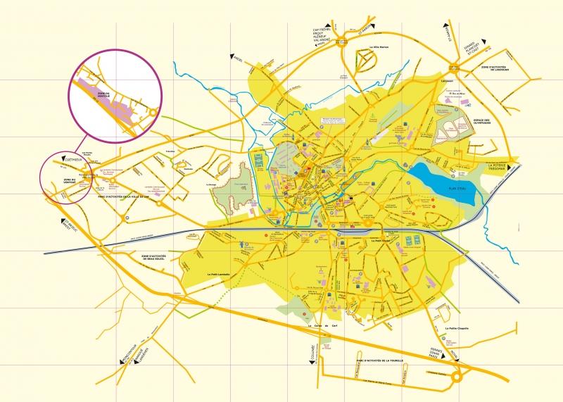 Plan de la ville de Lamballe