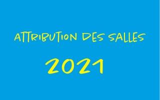 Calendrier d'attribution des salles municipales 2021